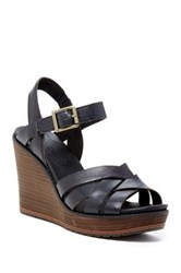 Timberland Danforth Woven Wedge Sandal Wide Width Available Black