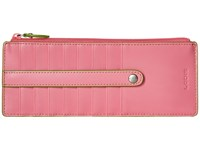 Lodis Audrey Card Case With Zip Pocket Pink Kiwi Credit Card Wallet