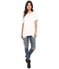 Culture Phit Iman Long Top With Side Slit Off White Women's Sleeveless