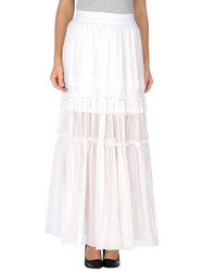 Pinko Black Skirts Long Skirts Women White