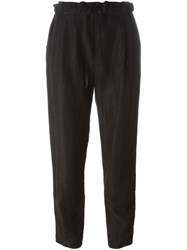 Raquel Allegra Drawstring Casual Trousers Black