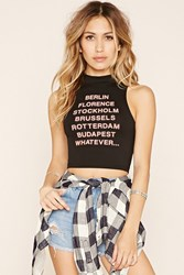 Forever 21 City Graphic Crop Top