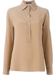 Etro Long Sleeve Polo Shirt Nude And Neutrals