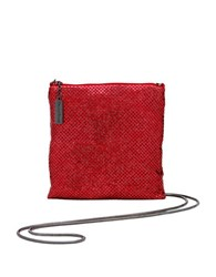 Whiting And Davis Crossbody Dance Bag Red