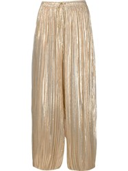 Adam By Adam Lippes Adam Lippes Pleated Trousers Metallic