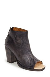 Women's Bed Stu 'Onset' Peep Toe Bootie Black Driftwood Leather