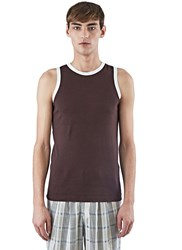 Wales Bonner Kauna Vest Top Brown