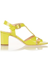 Rupert Sanderson Ischia Patent Leather Sandals Yellow