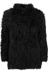 Iro Karare Shearling Coat Black