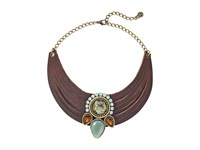 Leather Rock N209 Dark Walnut Necklace Brown