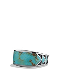 David Yurman Frontier Ring With Turquoise Silver Turquoise