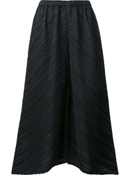Issey Miyake Pleats Please By Pleated Wide Leg Culottes Black