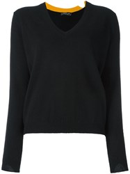 Twin Set V Neck Pullover Black