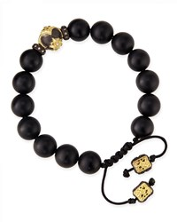 Onyx Bead Bracelet With 18K Gold Detail Armenta Black