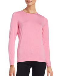 Lord And Taylor Long Sleeve Roundneck Tee Serene Pink