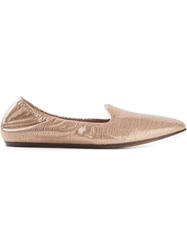 Lanvin Metallic Slippers