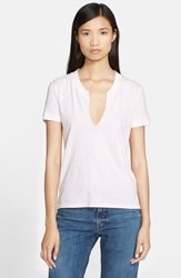 Helmut Lang Ripped Cotton Tee Light Pink