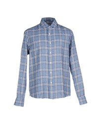 Salvatore Piccolo Shirts Shirts Men Dark Blue