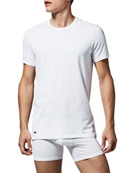 Lacoste Two Pack Slim Fit Crewneck Tees White