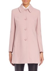 Red Valentino Cotton And Virgin Wool Blend Button Up Coat
