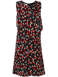 Marni Floral Print Shift Dress Black