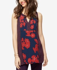 A Pea In The Pod Maternity Printed Tunic Print Mix