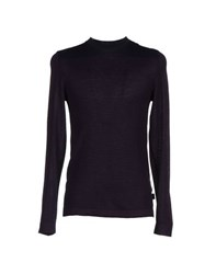 Boss Black Knitwear Jumpers Men Purple