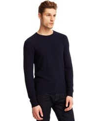 Kenneth Cole New York Pique Crew Neck Sweater