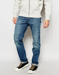 United Colors Of Benetton Light Wash Distressed Jeans In Regular Fit Lightblue902