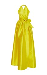 Alexis Mabille Evening Cache Coeur Full Gown Yellow