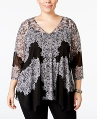 Inc International Concepts Plus Size Lace Handkerchief Hem Top Only At Macy's Placed Lace