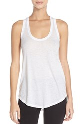 Women's Make Model Lounge Tank White