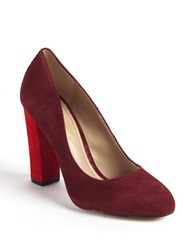 Lord And Taylor Connely Colorblocked Pump Red