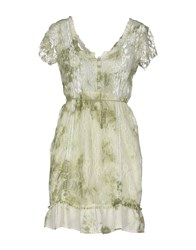 Fracomina Dresses Short Dresses Women Light Green