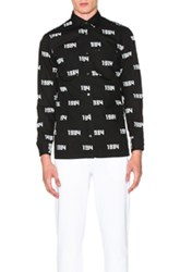 Gosha Rubchinskiy 1984 All Over Print Shirt In Black Abstract