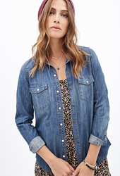 Forever 21 Western Chambray Shirt Denim