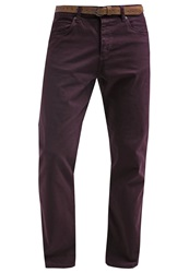 Esprit Trousers Bordeaux Red