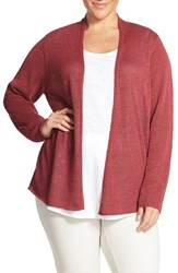 Plus Size Women's Eileen Fisher Linen Blend Mini Tape Yarn Straight Cardigan