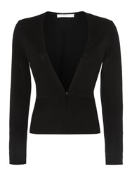 Hugo Boss Finesie Peplum Bolero Cardigan Black
