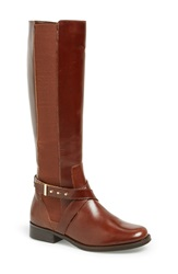 Steve Madden 'Sydnee' Riding Boot Women Regular And Wide Calf Cognac Leather Wide Calf
