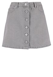 Miss Selfridge Mini Skirt Grey Grey Denim