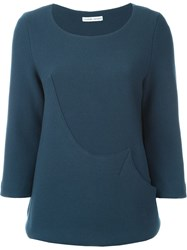 Tsumori Chisato Wavy Panel Sweater Blue
