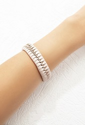 Forever 21 Woven Faux Leather Bracelet Nude