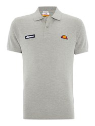 Ellesse Regular Fit Logo Polo Shirt Grey