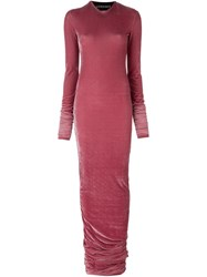 Y Project Fitted Velvet Dress Red