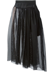 Y 3 Mesh Layered Skirt Black