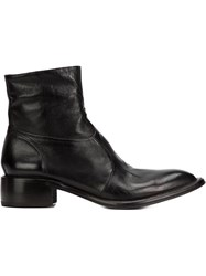 Silvano Sassetti Side Zip Boots Black