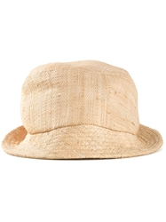 Junya Watanabe Comme Des Garcons Man Raffia Hat Nude And Neutrals