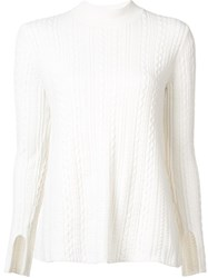 Theory Loose Fit Jumper White