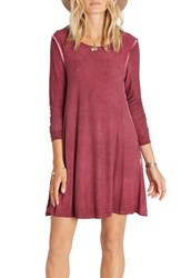 Billabong Women's Same Day Knit Shift Dress Plum Berry Pink
